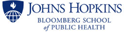 Johns Hopkins University, the Bloomberg School of Public Health logo